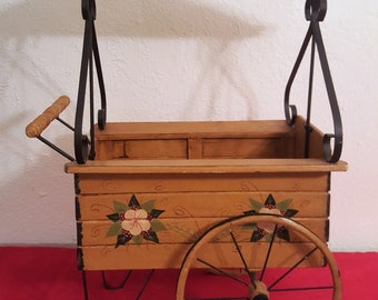 VINTAGE MINIATURE FLOWER Cart