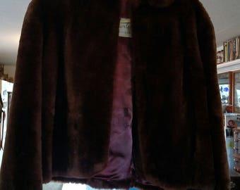 Rich Mahogany Brown Fur Jacket