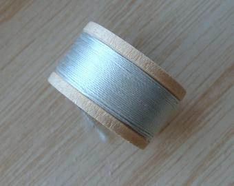 Vintage Pure Silk Buttonhole Twist Thread Spool 10 yards Size D Shade 6010