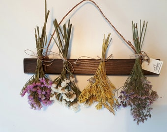 Wall Dried Flower Arrangement for decoration, Dried Flowers for Home Décor. Mixed Flower Swag. Dried Flower Rack. Wall Decor.