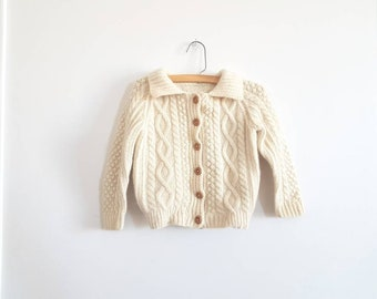 Vintage Cream Knit Cardigan