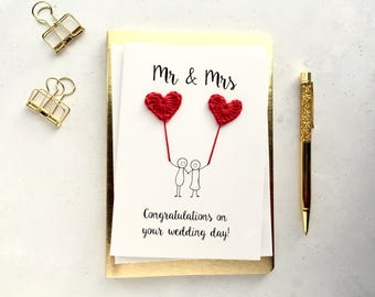 Wedding card Etsy