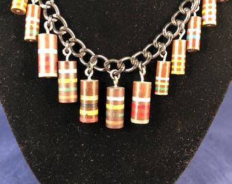 Vintage Carbon Resistor Necklace -  Vintage Electronics Necklace - Eclectic - Funky - Beaded Necklace - Avant Garde -