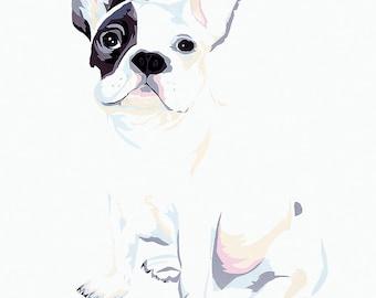 Bulldog limited edition signed giclee fine art print