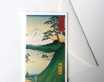 Card and envelope, pattern Japanese traditional UKIYOE FUJIYAMA (F1314)