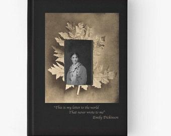 Tintype of Woman, Spiral Notebook, Tote Bag, Drawstring Bag, Emily Dickinson Poem, Gothic, Choose your item