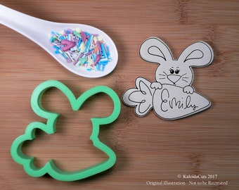 Bunny Carrot Plaque Cookie Cutter. Easter Cookie Cutter. 3D Printed. Bunny Cookie Cutter. Easter Cookies. Baking Gifts. Fondant Molds.