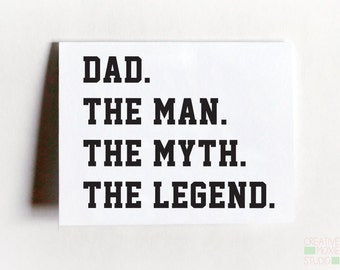 Fathers Day - Dad Birthday Card - Gift For Him - Gift For Dad - Fathers Day Card - Father Birthday Card - Daddy Card - New Dad Card