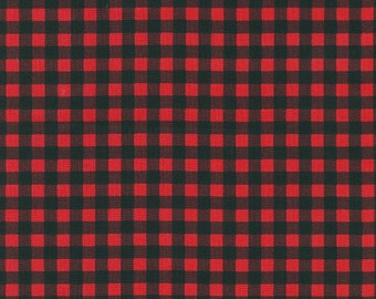 Robert Kaufman - Red Plaid - Burly Beavers - Fabric by the yard