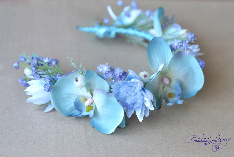 Baby blue flower crown ug99 zoom light blue flower crown adult floral izmirmasajfo