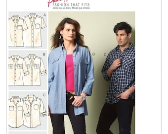 New Look 6250 Misses' And Men's Shirt And Vest