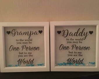 Fathers day gift / Father frame / personalised gift for dad / personalised grandad gift / personalised father gift / Father's Day gift /