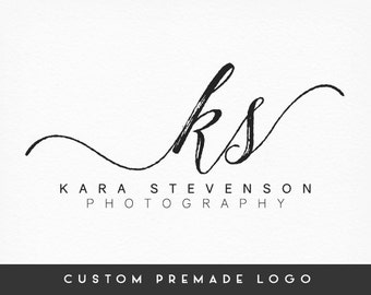 Premade Logo Design, Initials Logo, Calligraphy Logo, Handwritten Logo, Photography Logo, Sub marks + Watermarks,  Branding Kit