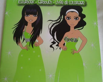 """Kids coloring book """"Prom dresses, evening"""" / hardcover"""