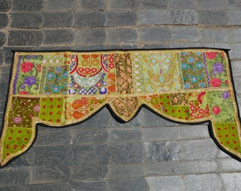 Gypsy door hanging, Indian Toran boho valance, bohemian wall decor, hippie decor colorful indian wallhanging, banjara tapestry gypsy curtain