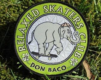 Elephant iron-on patch