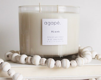 DOUBLE WICK 32 oz. • agapé candles, soy candle, 2 wick candle, spa candle