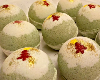 SALE Apple Balsam - Bubblin' Bath Bomb Fizzy, handmade with Avocado Oil, Soothing Suds Bath & Body