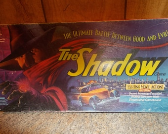 Vintage Board Game The Shadow Battle Between Good & Evil Milton Bradley Movie Action Board Games Spy Game Strategy Game 4 3 2 Player Game