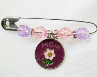 Mother's Day, Flower, Brooch, Mother's Pin, Flower Charm, Love Gift, Friendship, Special Gift, Mom Pin, Christmas, Lapel Pin, Mother's, Gift