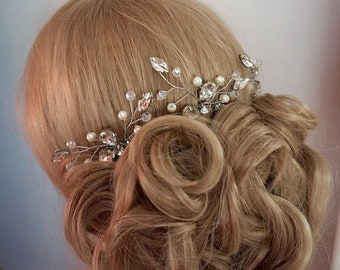 bridal hairpins, bridal hair pins, bridal headpiece, wedding hairpin, bridal accessories, rose gold hairpins, gold bridal hairpins