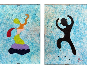 "EMPTY-workshop (50% deducted) painting - painting acrylic coaster - ""all flamenco 4""."