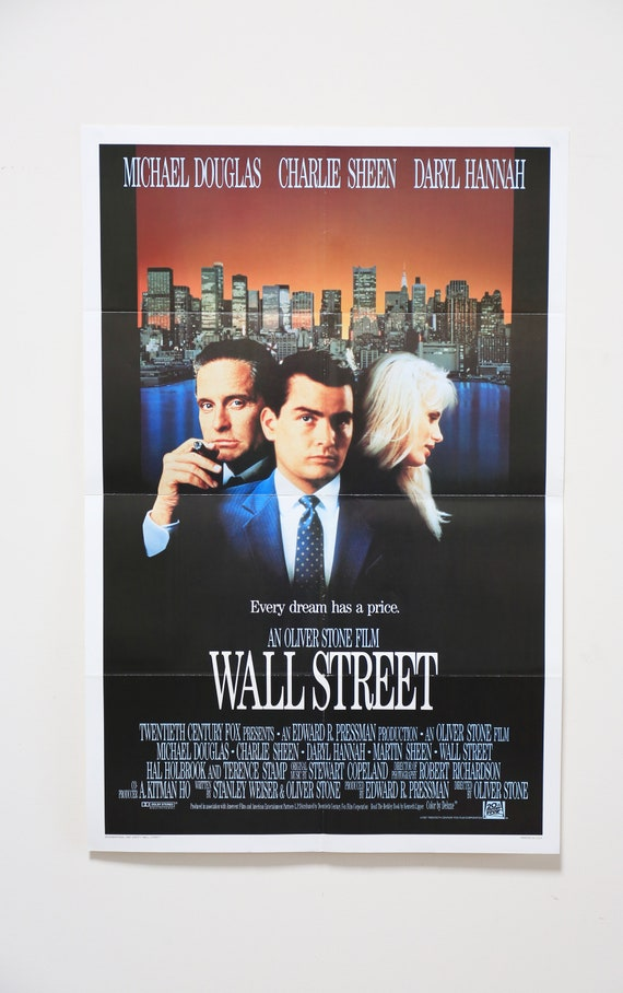 Original Theatrical One Sheet Film Poster - Wall Street, Oliver Stone