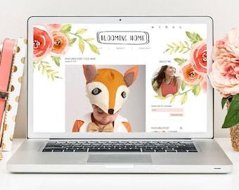 Premade Blog Template, Lifestyle Blog Template, Modern Blog Template, Responsive Blog Template, Minimal Blog Template
