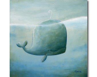 painting on canvas whale Philomène