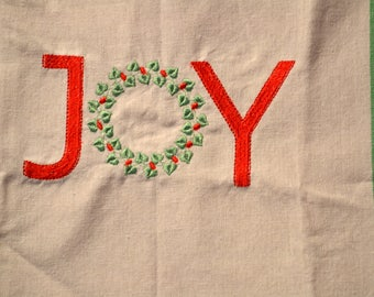Joy Christmas Towel