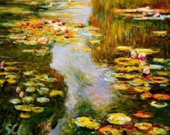 Claude Monet-Water lilies in light c94838 50 x 60 cm exquisite image