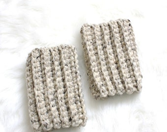 SALE I Knit Ankle Warmers Accessories | Oatmeal
