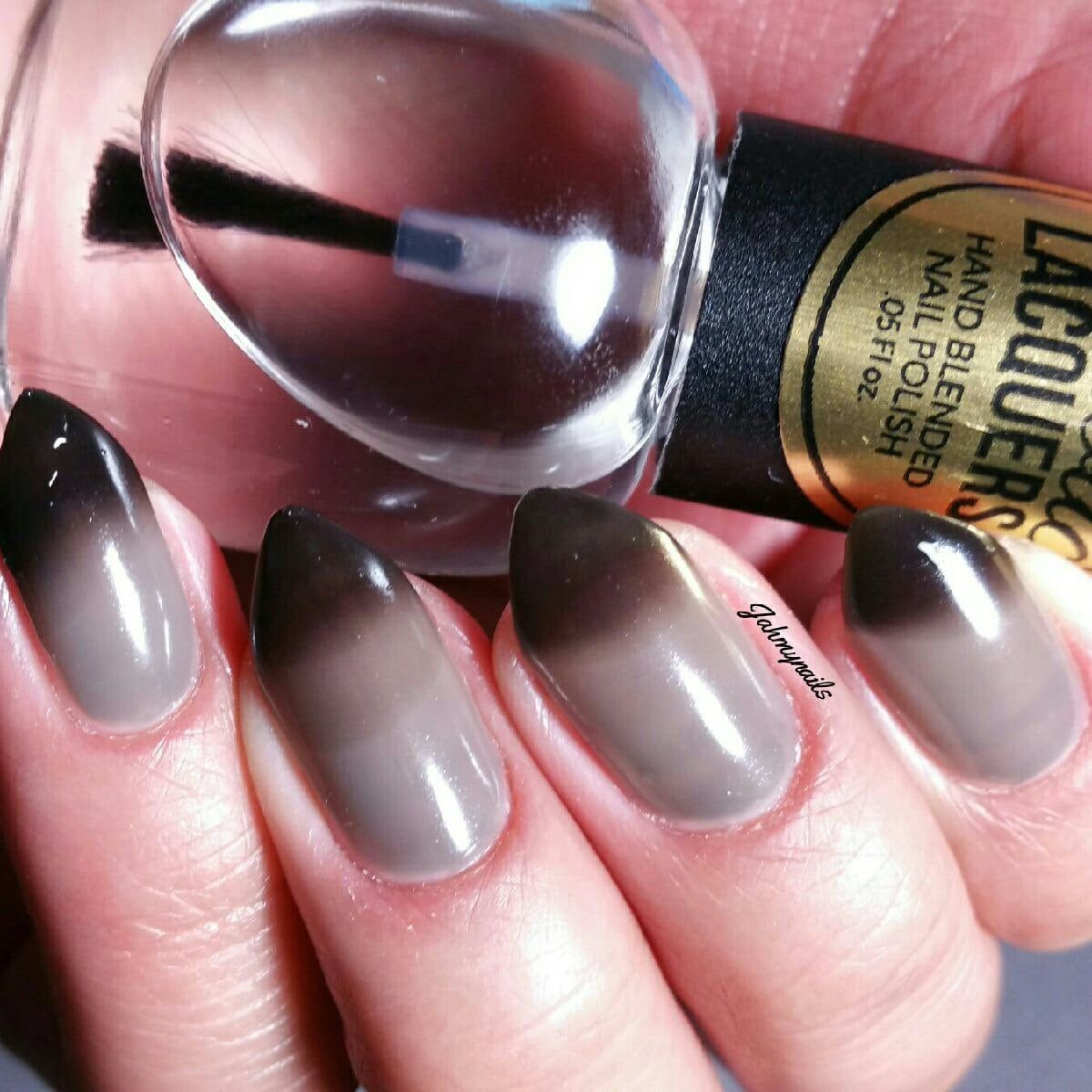 tonado warning black to clear thermal color changing nail