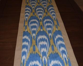 Beautiful modern Ikat Table Runner