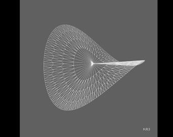 Geometric Print: Hyperbolic Collection, Radial Series, Print #5