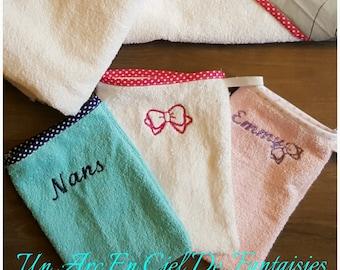 embroidered 100% custom washcloth