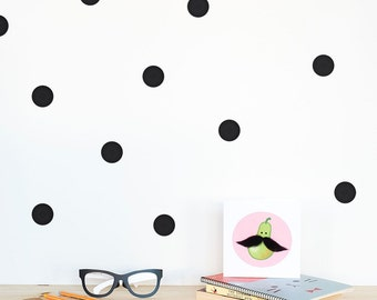 Polka dots Wall decals / Wall Dots Home decor / Polka dot wall Nursery decor / Pink Mint Lavender Yellow Black White Dots Vinyl Sticker