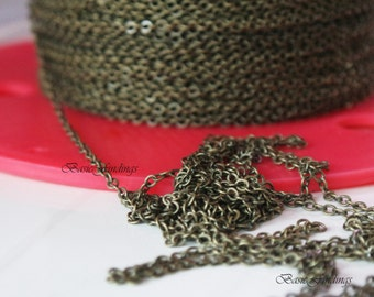 5 Meters, 16 Feet, Basic Cable Chain 235SF, Antique Gold Finished Brass Chain, Basic Fashion Jewelry Chain, Quality Chain