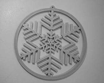 3D Printed Snowflake | Christmas decoration | Holiday Decor | Holiday Snowflake | Tree decoration | Holidays Gift | Christmas Ornaments