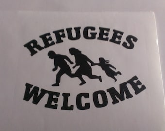 Refugees Welcome Vinyl Decal