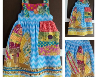 Surf'n Scrappy Knot Dress size 6