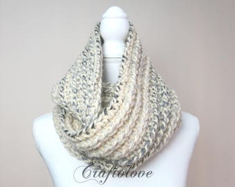 Chunky knit scarves - Chunky scarf - Infinity scarf - Chunky Infinity scarf - Chunky Infinity knit scarf - The Brussel - Winter scarf