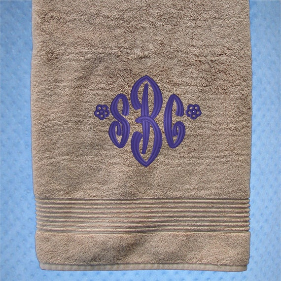 Monogrammed Towels Housewarming Gifts Graduation Gifts