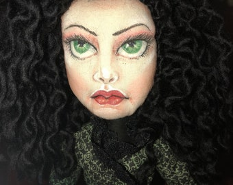 OOAK UNIQUE cloth doll