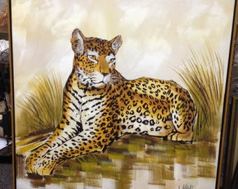 Large Giclee Print of Lounging Cheetah by Walker – Framed