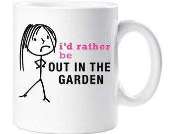 Gardening Mug I'd Rather Be Out In The Garden Cup Friend Gift Present Secret Santa