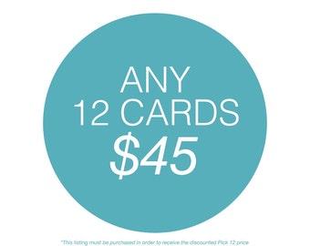 Pick 12 Cards. Bulk Greeting Cards. Birthday Card. Valentines Card. Love Card. Mature.