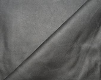 Fabric faux leather grey effects ages stretch (in multiples of 20cm)