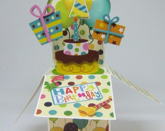 Birthday Pop Up Card - Box Card - Party in a Box