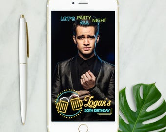 Neon Beer Snapchat Geofilter Birthday, Birthday Boy Geofilter, Snapchat Geofilter for Men, Snapchat Geofilter Birthday, 30th Birthday Filter